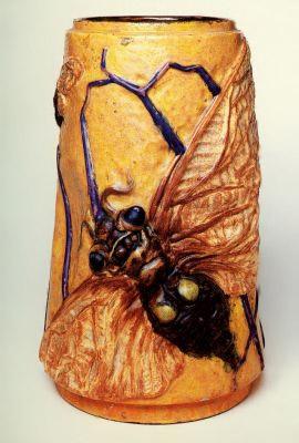 Emil Halle: Vase Butterfly