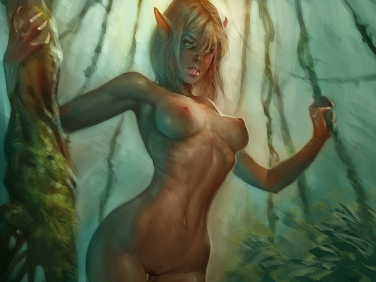 Sexy elf nude women picture anime gorgeous breasts